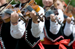Slovakian musician with violin Royalty Free Stock Images