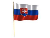 Slovakian silk flag. Silk flag of Slovakia Stock Photo