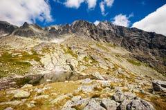 Slovakian Spiski lakes Tatry mountains Royalty Free Stock Photos