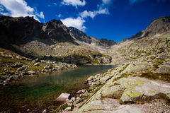 Slovakian Spiski lakes Tatry mountains Stock Images