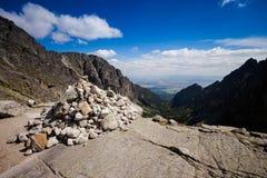 Slovakian Spiski lakes Tatry mountains Royalty Free Stock Images