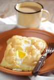 Slovakian style baked eggs Royalty Free Stock Images