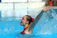 Slovakian synchro swimmer Kristina Krajcovicova Stock Photos