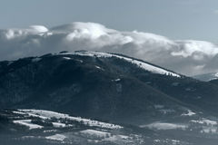 Slovakian Winter. Cold winter in central Slovakia Royalty Free Stock Image