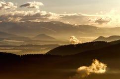 Slovakian zim góry Fotografia Stock