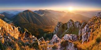 Slovakien bergmaximum Rozsutec Arkivbilder