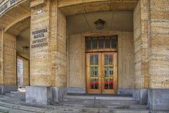 Slovakien Bratislava - November 5th, 2017 Comenius universitet Royaltyfri Foto