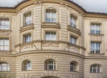 Slovakien Bratislava - November 5th, 2017 historisk gammal stad, byggnader från austro-ungrare välde Royaltyfria Bilder