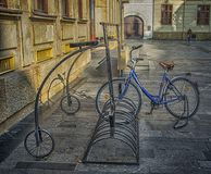 Slovakien Bratislava - November 5th, 2017 historisk gammal stad, byggnader från austro-ungrare välde Fotografering för Bildbyråer
