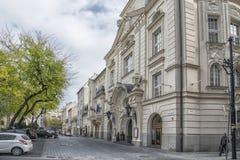 Slovakien Bratislava - November 5th, 2017 historisk gammal stad, byggnader från austro-ungrare välde reduta från 1913 Royaltyfria Foton