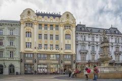 Slovakien Bratislava - November 5th, 2017 historisk gammal stad, byggnader från austro-ungrare välde San Carlos de Bariloche Royaltyfria Bilder