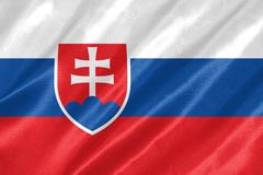 Slovakien flagga stock illustrationer