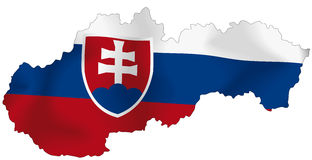 Slovakien flagga vektor illustrationer