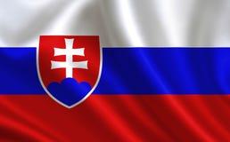 Slovakien flagga En serie av `-flaggor av världen ` Landet - Slovakien flagga Royaltyfri Foto