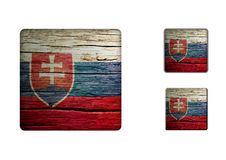 Slovakien flaggaknappar Royaltyfri Foto