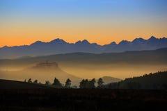 Slovakien i morgonen Arkivbild