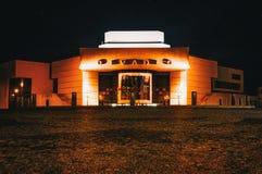 24 10 2017 - Slovakien - Nitra upplysta Andrej Bagar Theatre Royaltyfri Foto