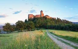 Slovakien slott, Stara Lubovna arkivbild