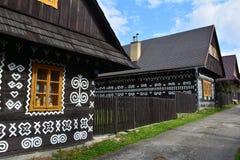 Slovakien by, stugor royaltyfri fotografi