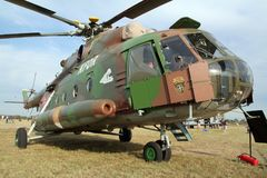 Slovakisk helikopter för transport för flygvapenMil Mi-17 Royaltyfri Bild