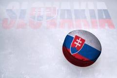 Slovakisk hockey Arkivbilder