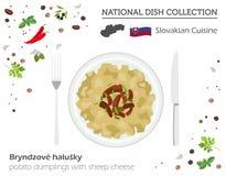 Slovakisk kokkonst Europeisk nationell maträttsamling Fårchee vektor illustrationer