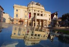 Slovakisk nationell theatre - Bratislava Fotografering för Bildbyråer