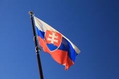 Slovakisk nationsflagga Arkivfoto