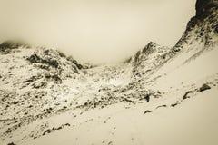Slovakiska carpathian berg i höst solig kulleblast i seger Royaltyfria Bilder