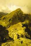 Slovakiska carpathian berg i höst - tappningfilmblick Royaltyfria Foton