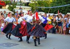 Slovakiska dansare Arkivbild