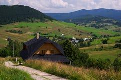 Slovakiskt trähus Royaltyfri Fotografi
