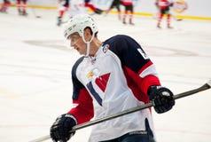 Slovan (布拉索夫) Tomas Mojzis的防御者 库存图片