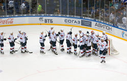 Slovan team rejoice of victory Stock Photos