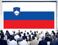 Slovania National Flag Government Freedom LIberty Concept Royalty Free Stock Photography