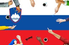 Slovania National Flag Government Freedom LIberty Concept Stock Images