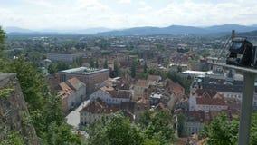 Sloveens de Stadsweergeven van Ljubljana stock videobeelden
