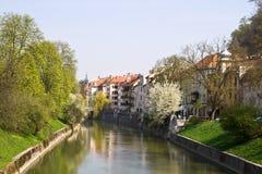 Sloveens hoofdLjubljana stock foto