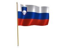 Sloveense zijdevlag Stock Foto's