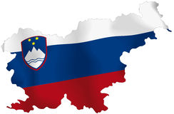 Slovena flag Royalty Free Stock Photo