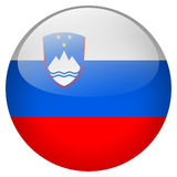 Slovenia Button. On white background Royalty Free Stock Photography