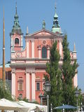 Slovenia - Church in Ljubljana. Ljubljana the capital  of slovenia , ebullient city with magnificent architecture Royalty Free Stock Images