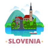 Slovenia country design template Flat cartoon styl Royalty Free Stock Image