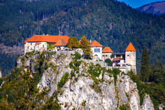Slovenia. Europe  City of Bled historic castle  view Royalty Free Stock Images