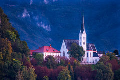 Slovenia. Europe  City of Bled local church view Stock Photography