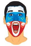 Slovenia fan face Stock Photography