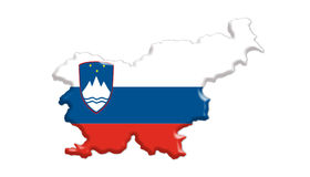 Slovenia flag. The Slovenia country in colors flag Royalty Free Illustration