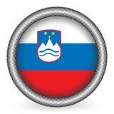 Slovenia flag button Royalty Free Stock Photos