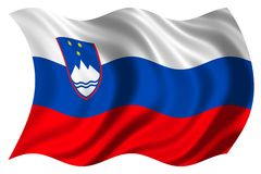 Slovenia flag isolated Royalty Free Stock Photos