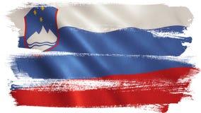 Slovenia flaga ilustracji